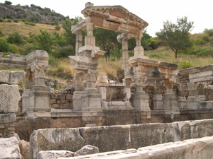 trajan fountain ephesus, ephesus sights to see
